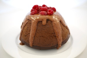 Sugar free chocolate pudding with coconut chocolate ganache for Easter